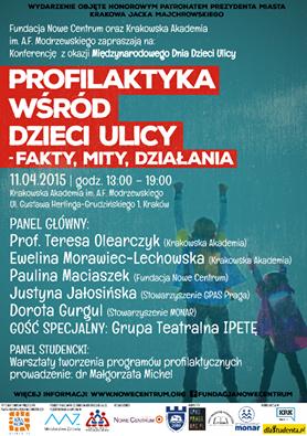 IV Krakowska Konferencja z okazji Międzynarodowego Dnia Dzieci Ulicy